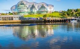 Sage Gateshead-concertzaal op Quayside van Newcastle Gateshead als a stock foto