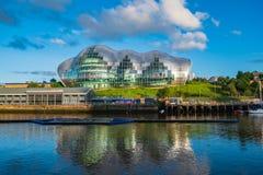 Sage Gateshead-concertzaal op Quayside van Newcastle Gateshead als a stock afbeeldingen