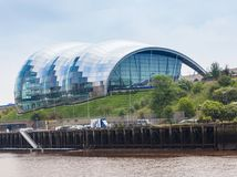 Sage Gateshead. NEWCASTLE UPON TYNE, ENGLAND - JULY 5, 2012: A view of Sage Gateshead, a concert venue and centre for musical education, located in Gateshead on Stock Photos