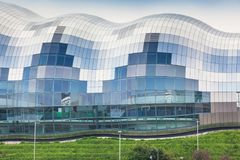 Sage Gateshead. NEWCASTLE UPON TYNE, ENGLAND - JULY 5, 2012: A view of Sage Gateshead, a concert venue and centre for musical education, located in Gateshead on Stock Image