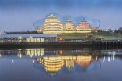 Sage Gateshead Tyne y el desgaste Imágenes de archivo libres de regalías