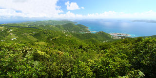 Sage Mountain National Park. View of Tortola from Sage Mountain National Park - British Virgin Islands Royalty Free Stock Photo