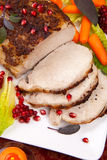 Sage  Mustard Roast Tenderloin Pork Stock Photos