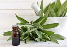 Sage oil Stock Image