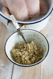 Sage and Onion Stuffing Royalty Free Stock Photography