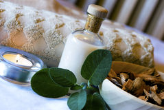 Sage Spa set - aromatherapy Stock Photos