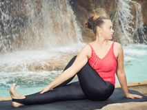 Sage Twist. Marichyasana Stock Images