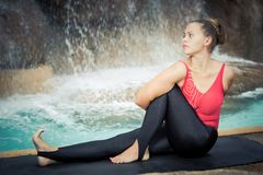 Sage Twist. Marichyasana Stock Photos
