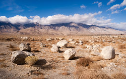 Sagebrush Boulders Owens Valley Sierra Nevada Range California Royalty Free Stock Image