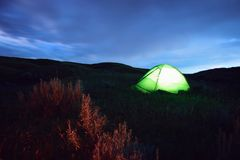 Sagebrush Campsite Stock Photo