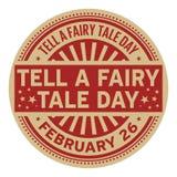 Sagen Sie einem Märchen-Tagesstempel Lizenzfreies Stockbild