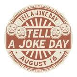 Sagen Sie einem Witz-Tag, am 16. August vektor abbildung