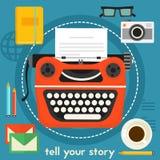 Sagen Sie Ihrem Geschichten-Konzept Lizenzfreies Stockbild