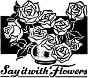 Sagen Sie sie mit Blumen Lizenzfreie Stockbilder