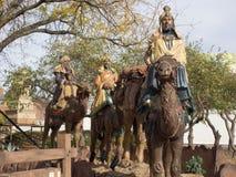 3 sages sur des chameaux Cadre ouvert de lecture Images libres de droits