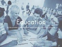 Sagesse de la connaissance d'éducation apprenant étudiant le concept photo libre de droits