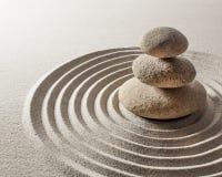 Saggezza minerale ed equilibrio asiatico Fotografie Stock
