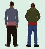 Sagging Pants. Two black (african american) teens sagging their pants Stock Image