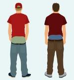 Sagging Pants. Two white teens sagging their pants Stock Photo