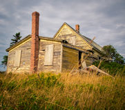 Sagging roof on an abandon house. Abandon house in rural Prince Edward Island Royalty Free Stock Images