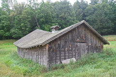 Sagging, Weathered Hay Barn Stock Image
