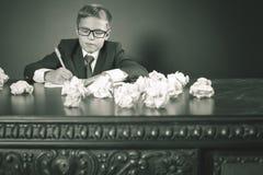 Saggio o esame ispirato di scrittura del ragazzo di scuola Immagine Stock Libera da Diritti