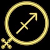 Saggitarius 001 dello zodiaco Fotografia Stock