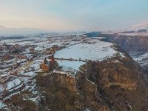 Saghmosavankklooster dichtbij kloof van Kassakh-rivier armenië royalty-vrije stock fotografie