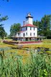 Saginaw River Rear Range Light Station - Michigan. Rear Range Lighthouse sits on the banks of the Saginaw River near Bay City, Michigan and helps guide ships to Stock Photos