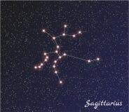 Sagitário da constelação ilustração royalty free