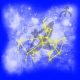 Sagitário do zodíaco Ilustração do Vetor
