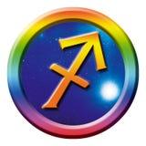 Sagitario de la muestra de la astrología stock de ilustración