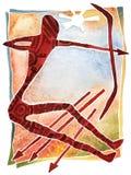 Sagittaire, Sagittaire de symbole d'astrologie image stock