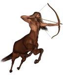 Sagittaire l'archer - galopant Image libre de droits