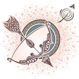 sagittaire zodiaque des symboles douze de signe de conception de dessin-modèles divers Photo stock