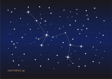 sagittarius αστερισμού διανυσματική απεικόνιση