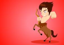 Sagittarius. Illustration of Sagittarius in cartoon style Royalty Free Stock Photo