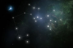 Sagittarius. The sun lies in this zodiacal constellation from late December to late January Stock Images