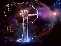 Sagittarius Archer royalty ilustracja