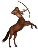 Sagittarius the archer - rearing. Sagittarius the centaur archer representing the ninth sign of the Zodiac - rearing, 3d digitally rendered illustration Stock Images