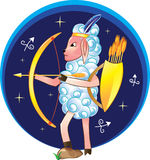 Sagittarius with bow and arrows. As a sign of the Zodiac Royalty Free Illustration
