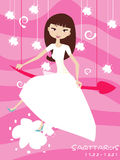Sagittarius bride Stock Photo
