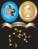 Sagittarius del segno dello zodiaco illustrazione vettoriale