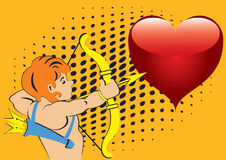 Sagittarius and the heart. Royalty Free Stock Images