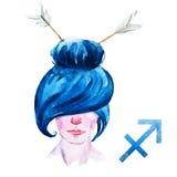 Sagittarius horoskopu raster ilustracji
