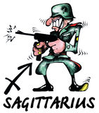 Sagittarius illustration royalty free stock image