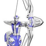 Sagittarius robot. Bow arrow target Stock Photo