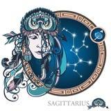 sagittarius Segno dello zodiaco Immagini Stock Libere da Diritti