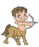 Sagittarius Sign. Babys Zodiac Stock Image
