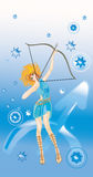 Sagittarius(sign of zodiac) Stock Images